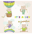 Baby Cat Set - for Baby Shower Cards vector image vector image
