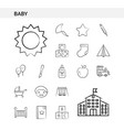 baby hand drawn icon set style isolated on white vector image vector image