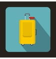 Baggage ready for travel icon flat style vector image