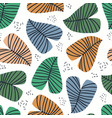 banana leaves flat seamless pattern vector image vector image