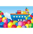 Birthday boat vector image