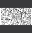 bologna italy city map in retro style outline map vector image vector image