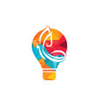 butterfly and bulb logo design vector image vector image