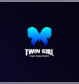 butterfly twin hot sexy woman girl lady female vector image vector image