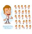 cartoon office boy big set for animation vector image vector image