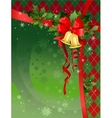 Christmas festive background with bells vector image vector image