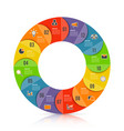 circle chart infographic template with 12 options vector image