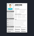 company application cv resume template card poster vector image vector image