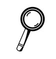 contour magnifying glass tool object design vector image