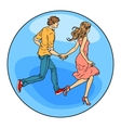 Couple in love boy and girl vector image vector image