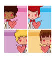 cute wedding boyfriends vector image