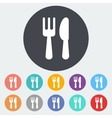 Cutlery single icon vector image