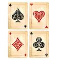 Decrepit Playing Cards Set vector image