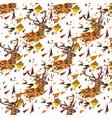 deer seamless pattern vector image