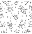 doodle of circus cute hand draw style vector image vector image