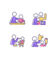 effective parenting style rgb color icons set vector image vector image