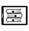 electronic book icon simple style vector image vector image