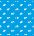 elephant pattern seamless blue vector image vector image