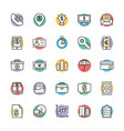 Finance Cool Icons 3 vector image vector image