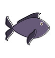 fish dark blue sideview icon imag vector image vector image