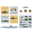 flat military composition vector image vector image