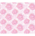 floral seamless pattern flower background bloom vector image vector image