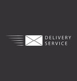 Flying envelope logo or icon design vector image