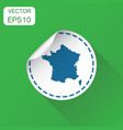 france sticker map icon business concept france vector image vector image