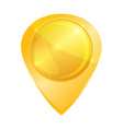 gold glossy tag on map vector image vector image