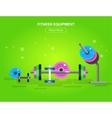 Gym design concept vector image vector image