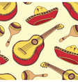 Hand drawn mexican seamless pattern vector image