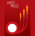 indian big festival diwali offer poster design vector image vector image
