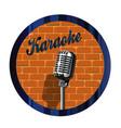 karaoke mic circle vector image vector image