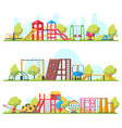kids outdoor fun recreation park or playground vector image vector image