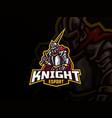 knight mascot sport logo design vector image vector image