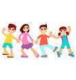 little children are dancing vector image vector image