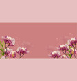 magnolia flowers on pink background vector image vector image