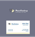 masks logo design with business card template vector image