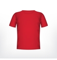 Mens red t-shirt vector image