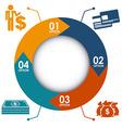 money infographics vector image vector image