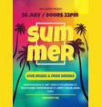music concert flyer brochure concept vector image