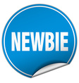 newbie round blue sticker isolated on white vector image vector image