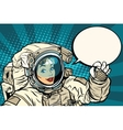 OK gesture female astronaut in a spacesuit vector image vector image