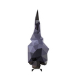 origami bat vector image vector image