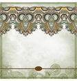 Ornamental floral pattern with place for your text vector image vector image