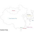 Outline Eastern Asia vector image vector image