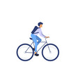 racing cyclist man riding a bicycle vector image vector image