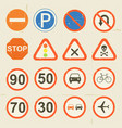 road signs grunge retro set vector image