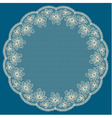 Round white lacy frame vector image