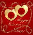 saint valentine greeting card vector image